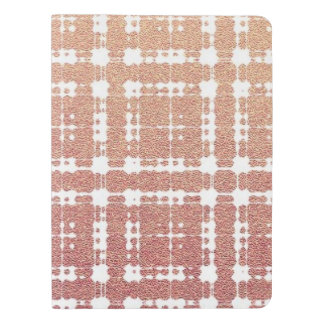Raspberry Pink Blush Modern Plaid Netted Ombra Extra Large Moleskine Notebook
