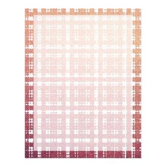 Raspberry Pink Blush Modern Plaid Netted Ombra Flyer