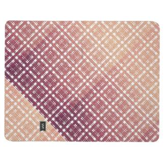 Raspberry Pink Blush Modern Plaid Netted Ombra Journal