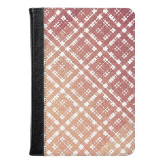 Raspberry Pink Blush Modern Plaid Netted Ombra Kindle Case