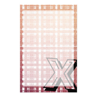 Raspberry Pink Blush Modern Plaid Netted Ombra Stationery