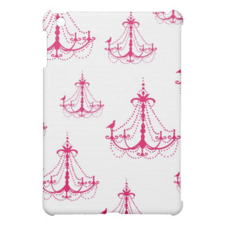 raspberry pink chandelier pern on white case for the iPad mini