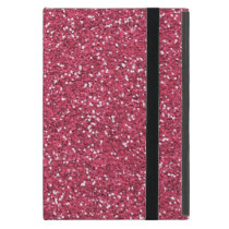 Raspberry Pink Glitter Effect Case For iPad Mini