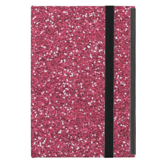 Raspberry Pink Glitter Effect Case For iPad Mini