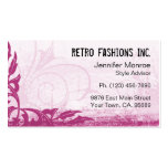 Raspberry Pink Grunge Distressed Business Cards