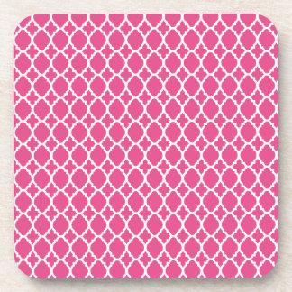 Raspberry Pink Moroccan Tile Coasters
