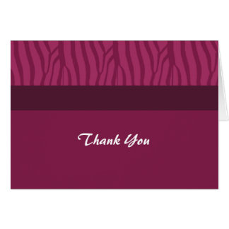 Raspberry Pink Thank You Card