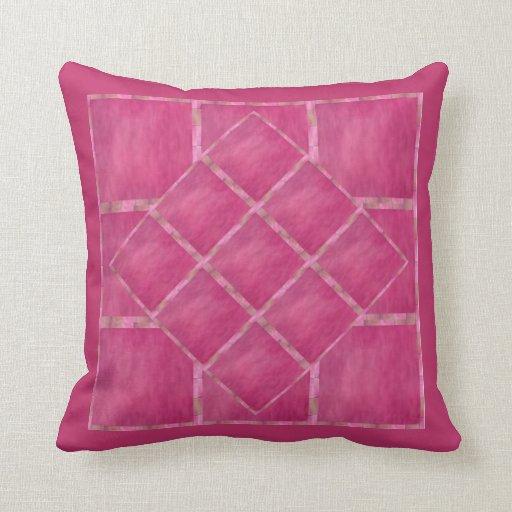 Raspberry Pink Throw Pillow Zazzle