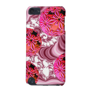 Raspberry Pink Vision, Abstract Snow Flakes iPod Touch (5th Generation) Case