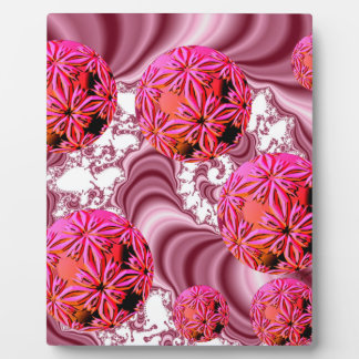 Raspberry Pink Vision, Abstract Snow Flakes Plaque