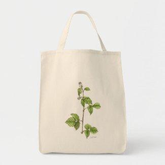 Raspberry Plant Grocery Tote bag