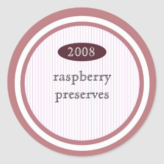 Raspberry preserves food label classic round sticker