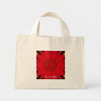 Raspberry Red Tote, TwistedHearts Mini Tote Bag