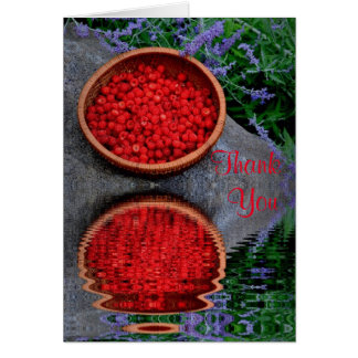 Raspberry Reflection Thank You Card