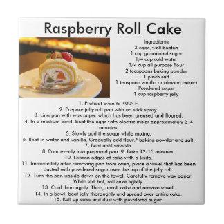 Raspberry Roll cake recipe kitchen tile