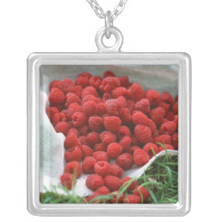 Raspberry Silver Plated Necklace