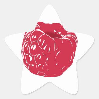 Raspberry: Star Sticker