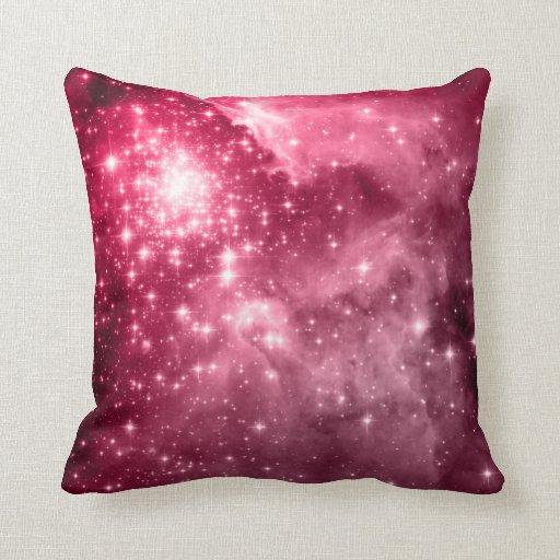 Throw Pillows Rules : Raspberry Stars Throw Pillow Zazzle