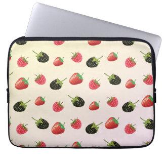 Raspberry, Strawberry, Blackberry: summer fruit Laptop Sleeve