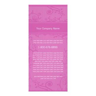 Raspberry Striped Rack Card Swirl Label