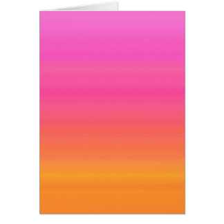 Raspberry Sunset Gradient - Pink Yellow Orange Card