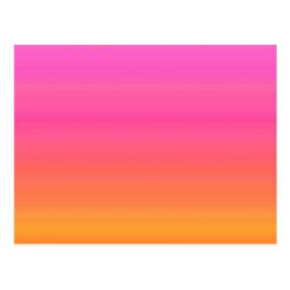 Raspberry Sunset Gradient - Pink Yellow Orange Postcard