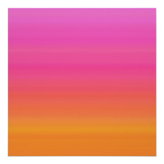 Raspberry Sunset Gradient Pink Yellow Orange Poster Zazzle Com
