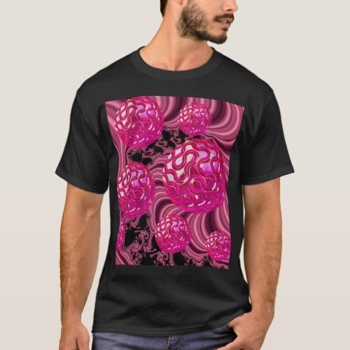 Raspberry Surprise, Abstract Rose Magenta T-Shirt