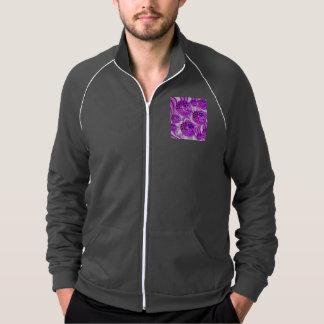 Raspberry Swirl, Abstract Fractal Violet Sherbet Printed Jacket