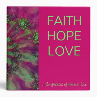 """Raspberry Swirl"" Faith Hope Love Binder"
