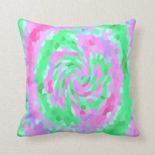 Throw Pillows Rules : Raspberry Swirl Pillow