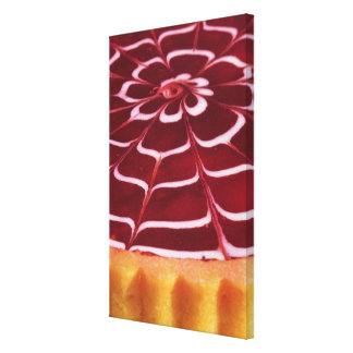 Raspberry tart canvas print