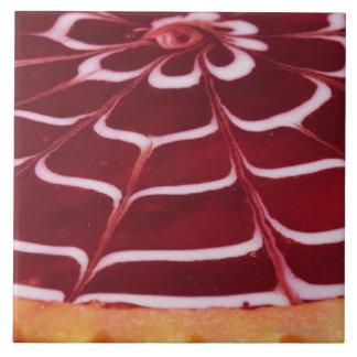 Raspberry tart ceramic tile