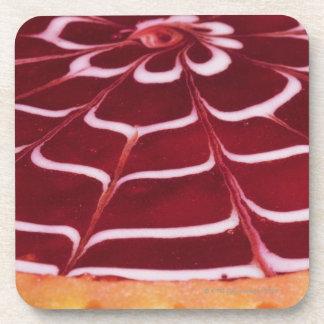 Raspberry tart coaster