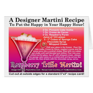 Raspberry Trifle Martini Recipe Greeting Card