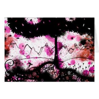 Raspberry twilight card