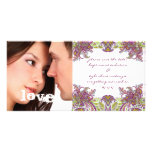 Raspberry Vintage Floral Save The Date Photo Photo Cards