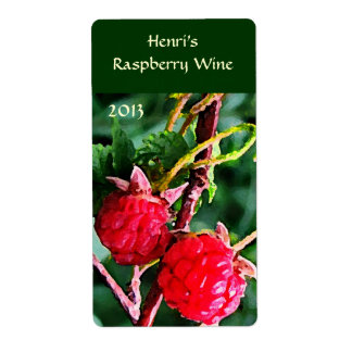 Raspberry Wine Shipping Labels