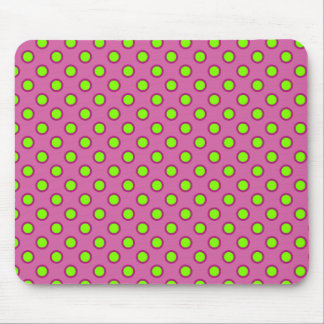 Raspberry With Lime Polka Dots Mouse Pad
