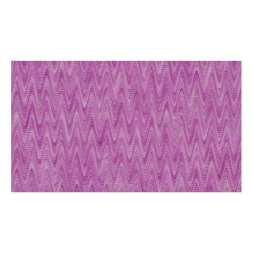 Raspberry Zigzag - Pink Abstract Pattern Double-Sided Standard Business Cards (Pack Of 100)