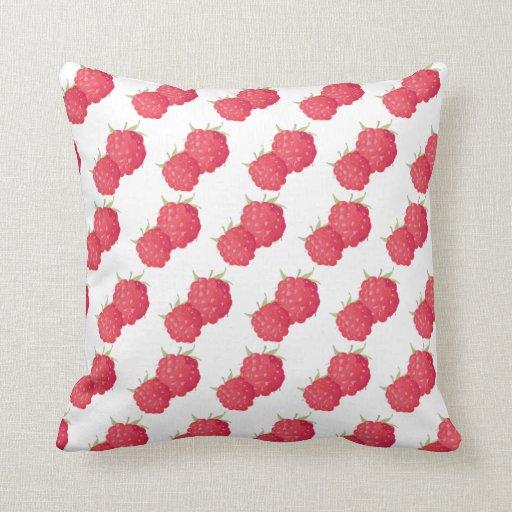 Throw Pillows Rules : Raspberrys Throw Pillow Zazzle