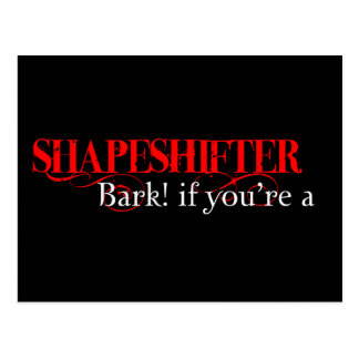 ¡Raspe si usted es un shapeshifter! Tarjetas Postales