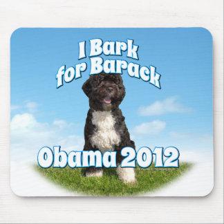Raspo para Barack, BO el primer perro Obama Alfombrilla De Ratón