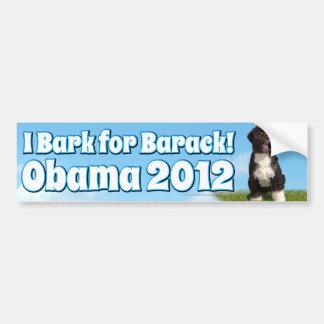 Raspo para Barack, BO el primer perro Obama Pegatina De Parachoque