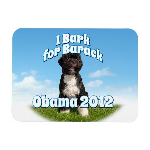 Raspo para Barack, BO el primer perro Obama Iman Rectangular
