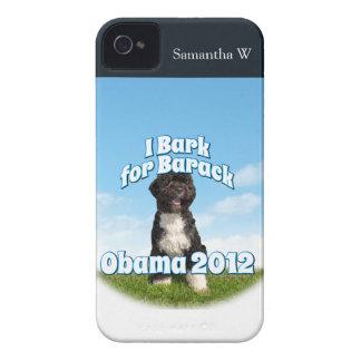 Raspo para Barack, BO el primer perro Obama iPhone 4 Protector
