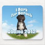 Raspo para Barack, BO el primer perro Obama Mouse Pad