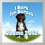Raspo para Barack, BO el primer perro Obama Impresiones