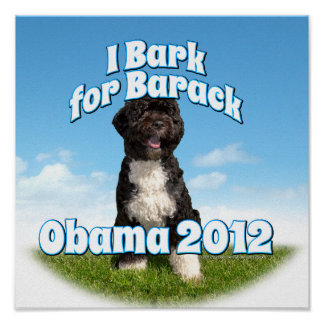 Raspo para Barack BO el primer perro Obama Impresiones