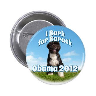 Raspo para Barack, BO el primer perro Obama Pin Redondo 5 Cm